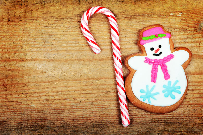 Holiday Gingerbread Snowman Cookies