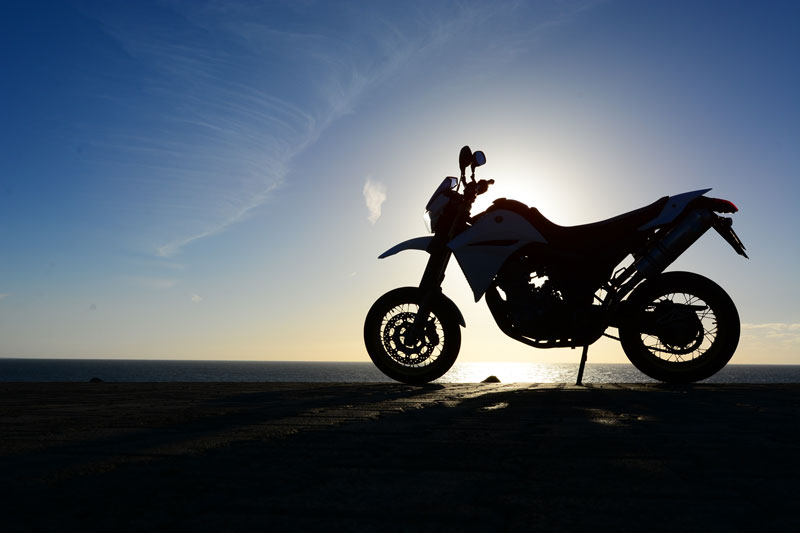 silhouette of motocycle