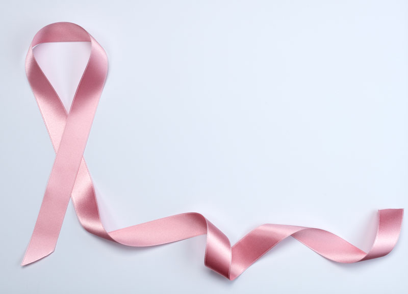 the pink breast cancer ribbon