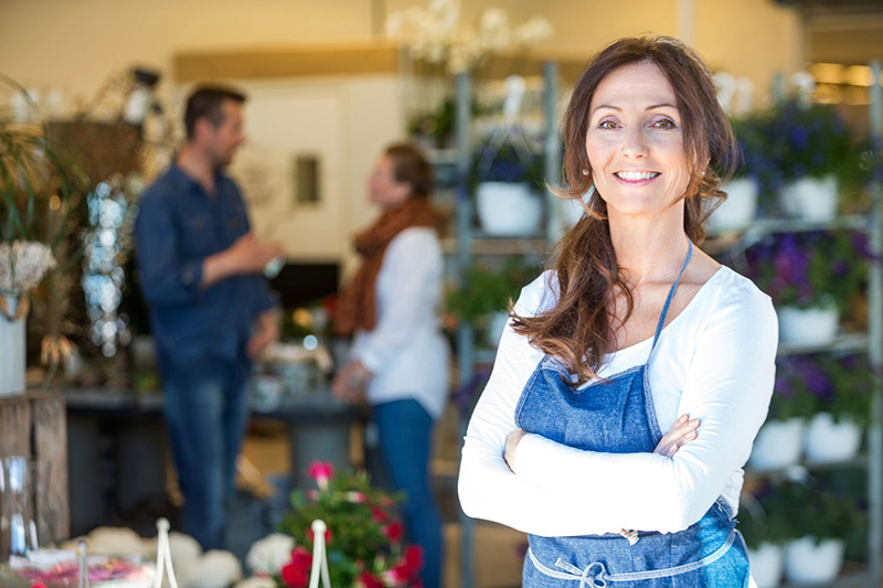 a small business owner florist