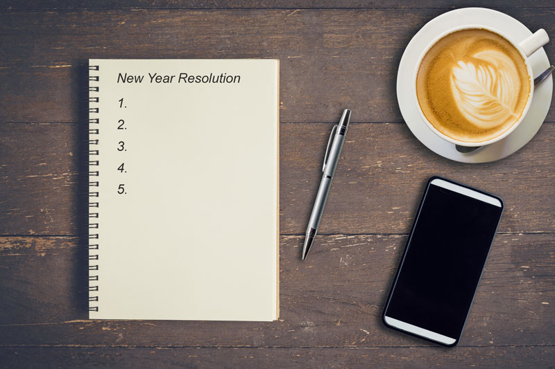 al list of new years resolutions