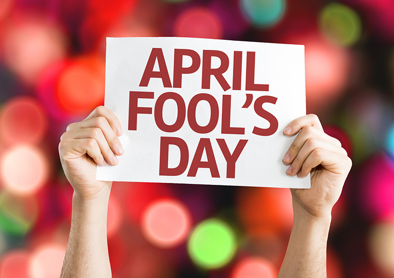 april fools day on a card