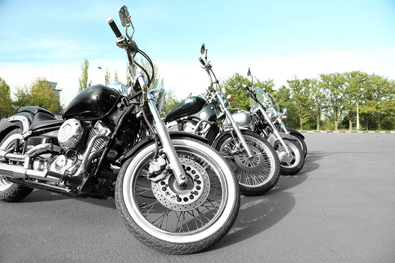 a group of motorcycles